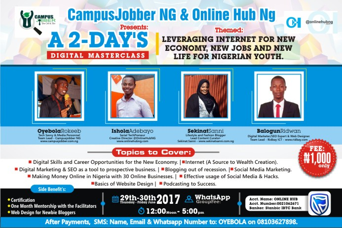 On-Demand: Intensive 2-Days Digital Masterclass – Leveraging Internet for New Jobs & Everything You Need To Know!